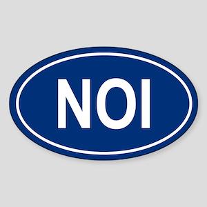 NOI Oval Sticker