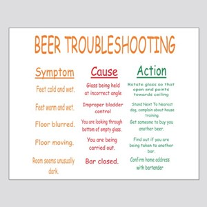 Beer Troubleshooting Small Poster