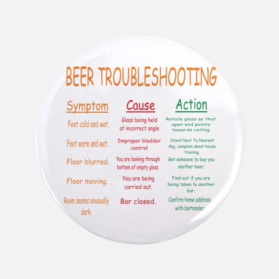 """Beer Troubleshooting 3.5"""" Button"""