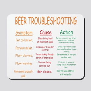 Beer Troubleshooting Mousepad