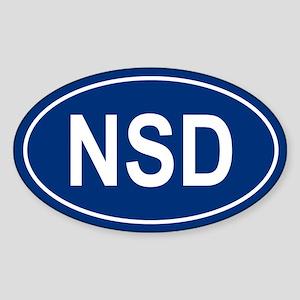 NSD Oval Sticker