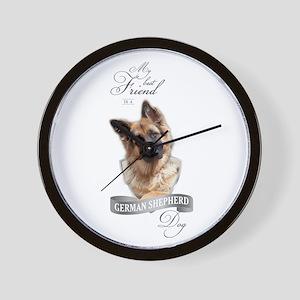 German Shepherd Best Friend Wall Clock