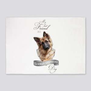 German Shepherd Best Friend 5'x7'Area Rug