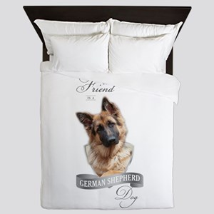 German Shepherd Best Friend Queen Duvet