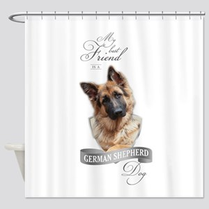 German Shepherd Best Friend Shower Curtain