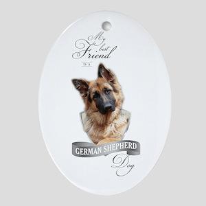 German Shepherd Best Friend Oval Ornament
