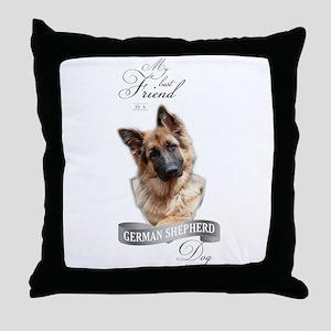 German Shepherd Best Friend Throw Pillow
