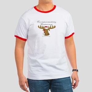 Moose Christmas Ringer T