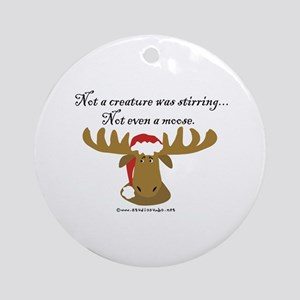 Moose Christmas Ornament (Round)