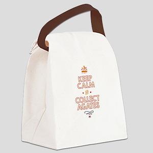 Keep Calm Agates Canvas Lunch Bag