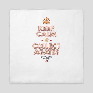 Keep Calm Agates Queen Duvet