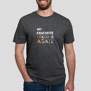 Favorite Color Is Agate Mens Tri-blend T-Shirt