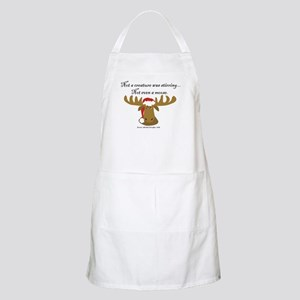 Moose Christmas Apron