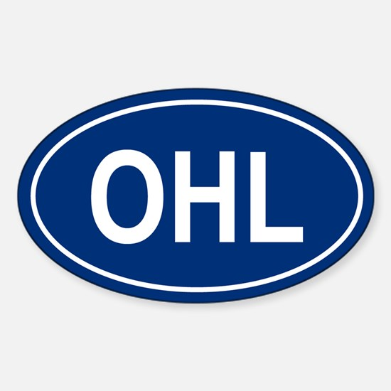 OHL Oval Decal
