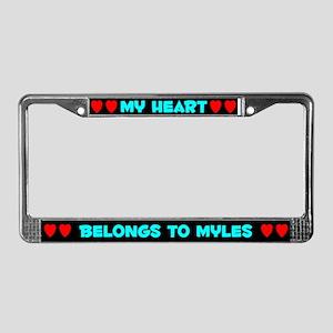 My Heart: Myles (#003) License Plate Frame