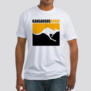 Kangaroos Rock! Fitted T-Shirt
