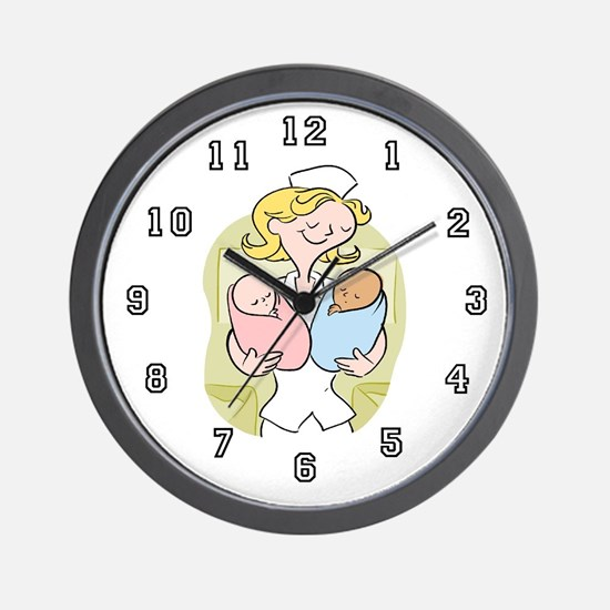 OB Nurse Wall Clock