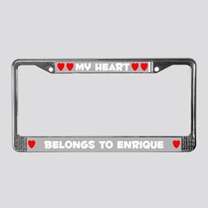 My Heart: Enrique (#006) License Plate Frame