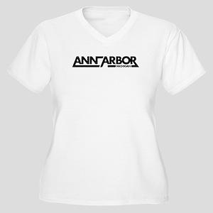 Ann Arbor Women's Plus Size V-Neck T-Shirt