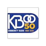 KBOO 50th Logo Sticker