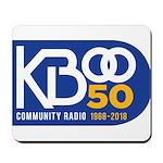 KBOO 50th Logo Mousepad