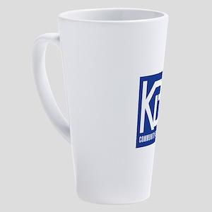 KBOO 50th Logo 17 oz Latte Mug