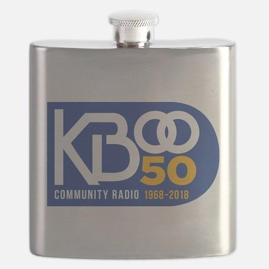 KBOO 50th Logo Flask