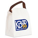 KBOO 50th Logo Canvas Lunch Bag