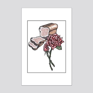 BREAD AND ROSES Mini Poster Print