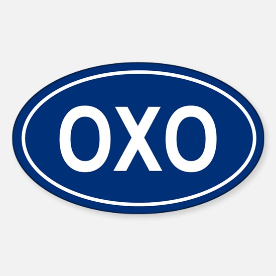 OXO Oval Decal