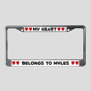 My Heart: Myles (#004) License Plate Frame