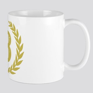Mustard Yellow Monogram: Letter 11 oz Ceramic Mug