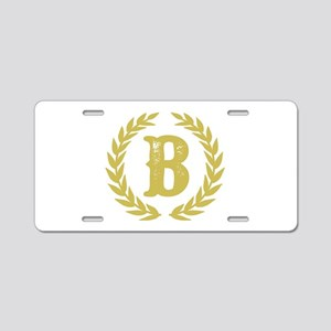 Mustard Yellow Monogram: Le Aluminum License Plate
