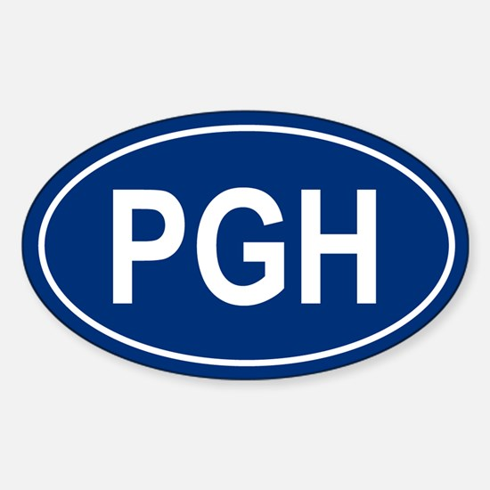 PGH Oval Decal