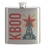 KBOO Logo Flask