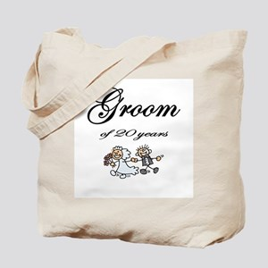 20th Wedding Anniversary Groom Tote Bag