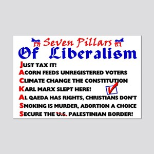 """Seven Pillars Of Liberalism"" Poster"