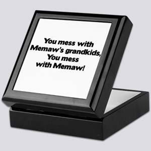 Don't Mess with Memaw's Grandkids! Keepsake Box