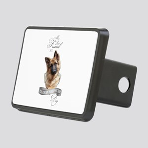 German Shepherd Best Frien Rectangular Hitch Cover