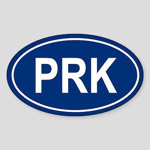 PRK Oval Sticker