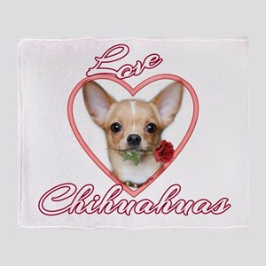 Valentines Love Chihuahua Throw Blanket