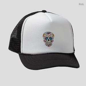 mardi gras skull Kids Trucker hat