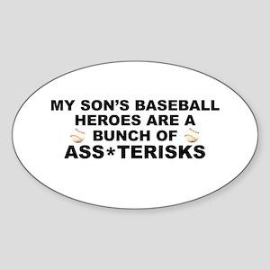 Ass*terisks Oval Sticker