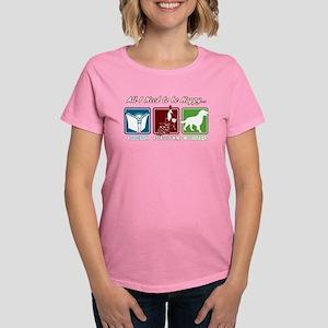 Book, Wine, Labrador Women's Classic T-Shirt