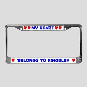My Heart: Kingsley (#005) License Plate Frame