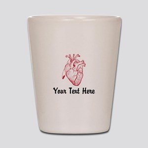 Personalize VINTAGE HEART Shot Glass