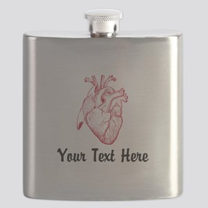 Personalize VINTAGE HEART Flask