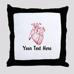 Personalize VINTAGE HEART Throw Pillow
