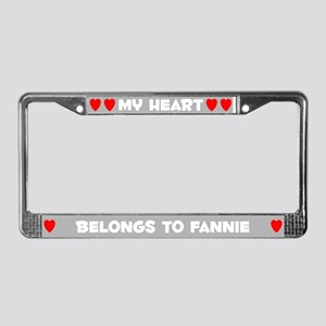 My Heart: Fannie (#006) License Plate Frame