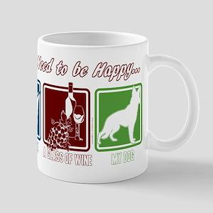 Book, Wine, German Shepherd 11 oz Ceramic Mug